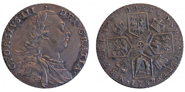George III, Silver Shilling, 1787