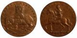 Warwickshire. Wilkinson's Counterfeit. Halfpenny.1793. DH 395C