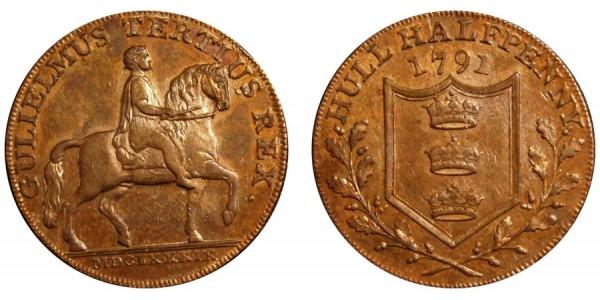 Yorkshire. HULL. 1791 . DH 17