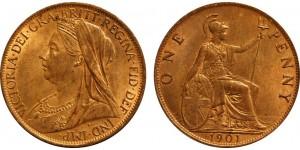 Victoria, Bronze Penny, 1901