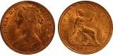 Victoria, Bronze Penny, 1860.  R. 10