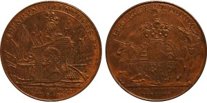 Cornwall Halfpenny.  DH