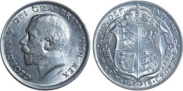 George V, Silver Half-crown, 1918
