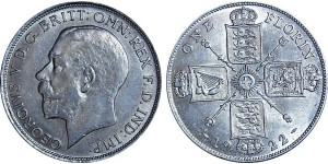 George V, Silver Florin 1922.