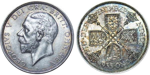 George VI, Silver Florin, 1935