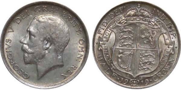 George V, Silver Half-crown, 1919