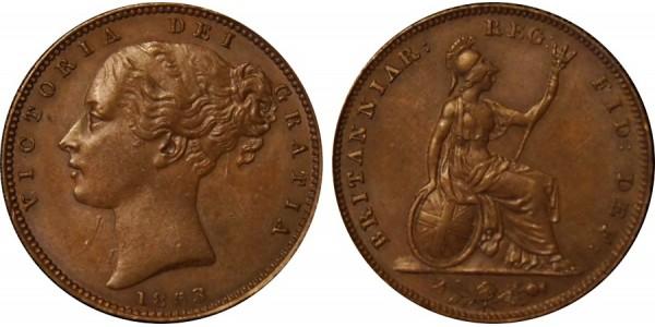 Victoria, Copper Farthing, 1853