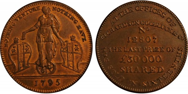 Middlesex. Richardson's Halfpenny.  DH 467