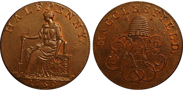 Cheshire. Macclesfield Halfpenny.  DH 11