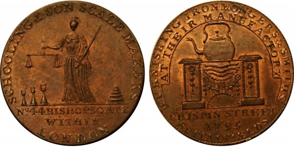Middlesex. Schooling's Halfpenny.  DH 474