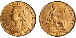 Victoria, Bronze Halfpenny, 1895