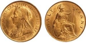 Victoria, bronze Halfpenny, 1896