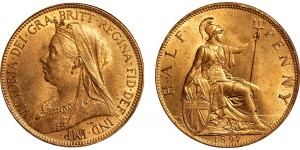 Victoria, Bronze Halfpenny, 1897