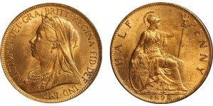 Victoria, Bronze Halfpenny, 1898