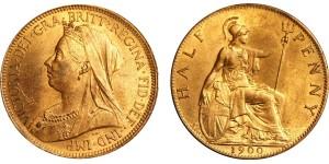Victoria, Bronze Halfpenny, 1900