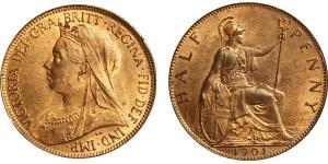 Victoria, Bronze Halfpenny, 1901