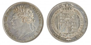 George IV, Silver Shilling,1820-1830