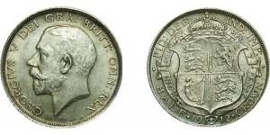 George V, Silver Half-crown, 1912.