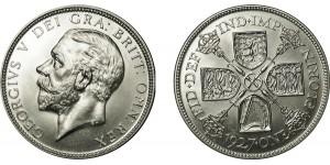 George V, Silver Proof Florin, 1927
