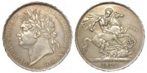 George IV, Silver Crown, 1822. TERTIO