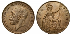 Gerorge IV, Copper Penny, 1825