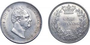 Willian IV, Silver Shilling, 1834