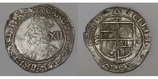 Charles I. Silver Shilling. Tower Mint. 1639-1640