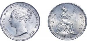 Victoria. Silver Groat. 1838/00