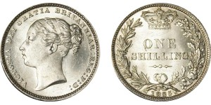 Victoria, Silver Shilling, 1885