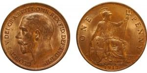 George V, Bronze Penny, 1917