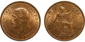 George V, Bronze Penny, 1930