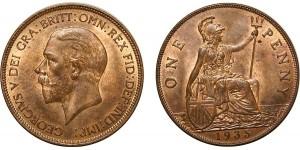 George V, Bronze Penny, 1935