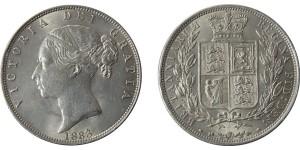 Victoria, Silver Half-crown, 1883