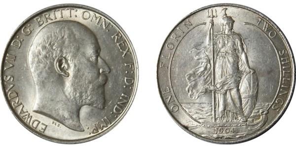 Edward VII, Silver Florin, 1904