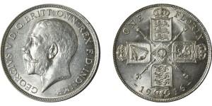 George V, Silver Florin.1916.