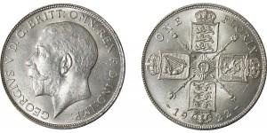 George V. Silver Florin 1922