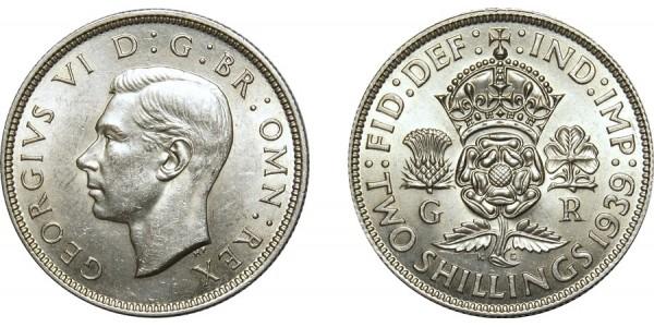 George VI, Silver Florin, 1939