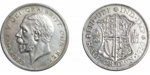 George V, Silver Half-crown, 1930