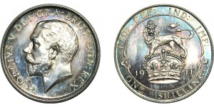 George V, Silver Proof Shilling, 1911.