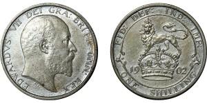 Edward VII, Matt Proof Shilling, 1902