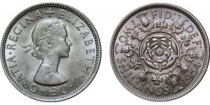 Elizebeth II, Cupro-nickel Florin, 1954