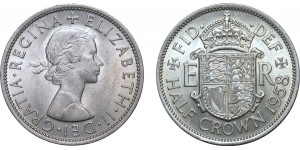 Elizabeth II, Cupro-nickel Half-crown. 1958