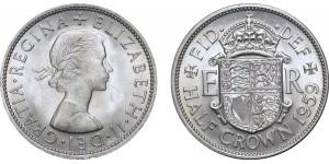 Elizabeth II, Cupro-nickel Half-crown. 1959