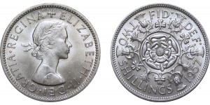 Elizebeth II, Cupro-nickel Florin 1957
