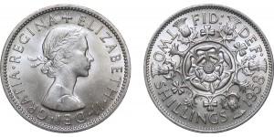 Elizebeth II, Cupro-nickel Florin, 1958