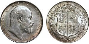 Edward VII, Silver Half-crown, 1906