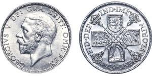 George V, Silver Florin. 1929