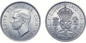 George VI, Cupro-nickel Florin. 1948