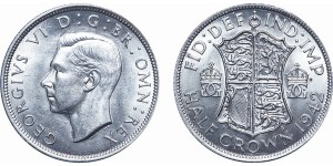George VI, Silver Half-crown. 1942