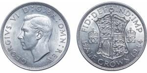 George VI, Silver Half-crown. 1944